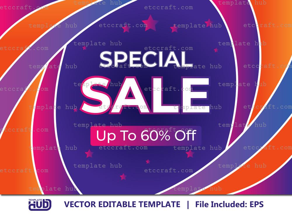 Special Sale Offer Banner, Sale Background