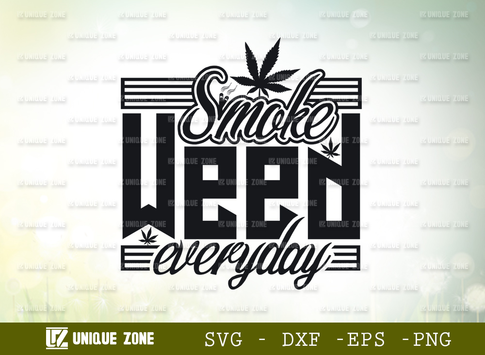 Smoke Weed Everyday SVG | Marijuana Leaf