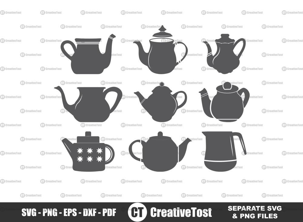 Teapot SVG, Teapot Split Monogram