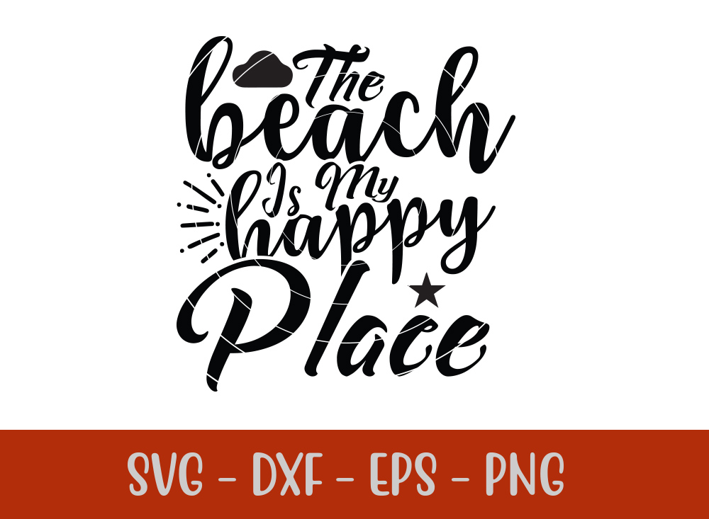The Beach Is My Happy Place T-shirt Design