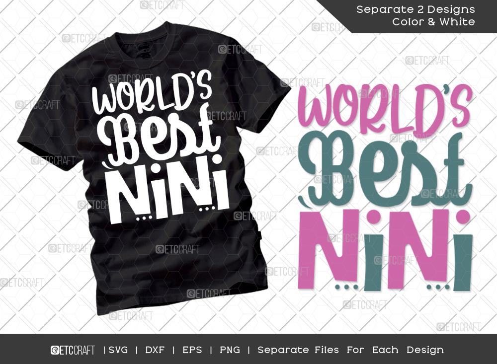 World's Best Nini SVG   Grandparents Shirt