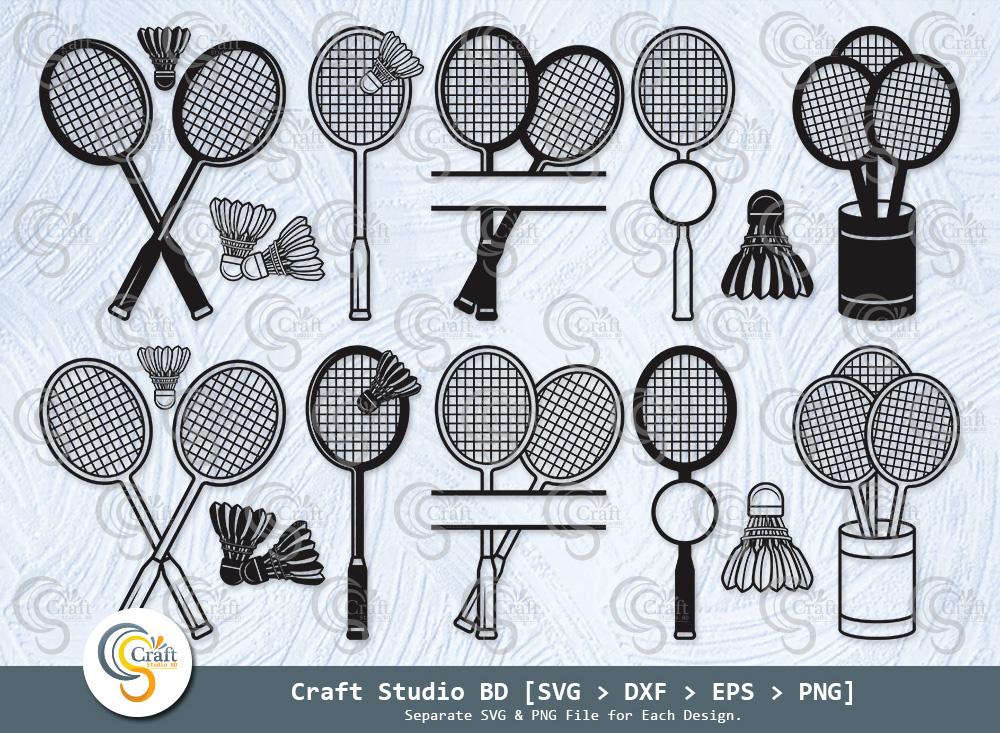 Badminton Silhouette, Badminton SVG Bundle