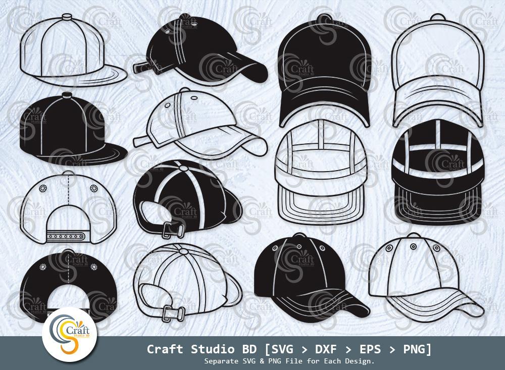 Baseball Hat Silhouette, Baseball Cap SVG
