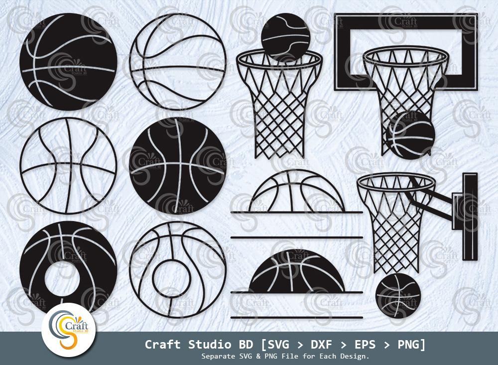Basketball Silhouette, Basketball SVG Bundle
