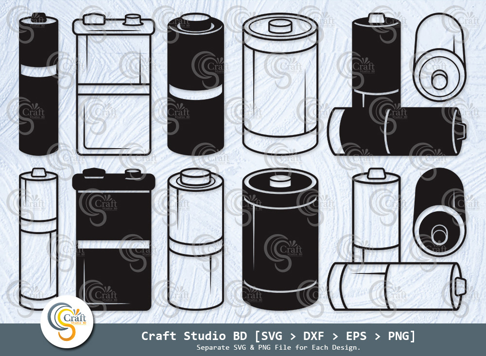 Battery Silhouette, Electric Battery SVG Bundle