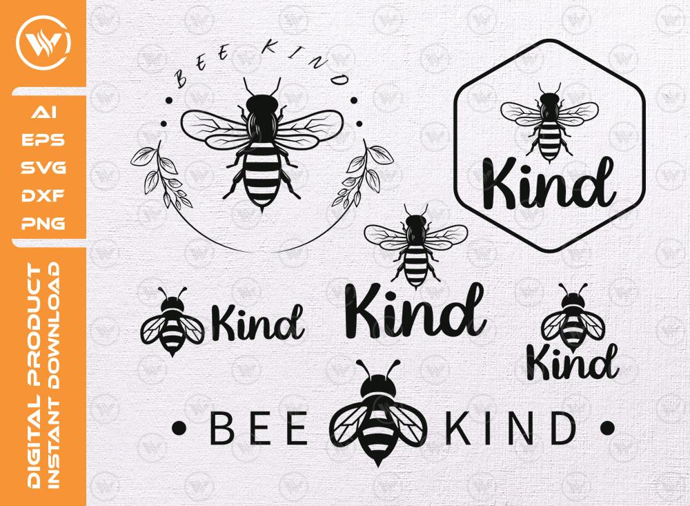 Bee Kind T-shirt SVG   Bee Kind PNG File