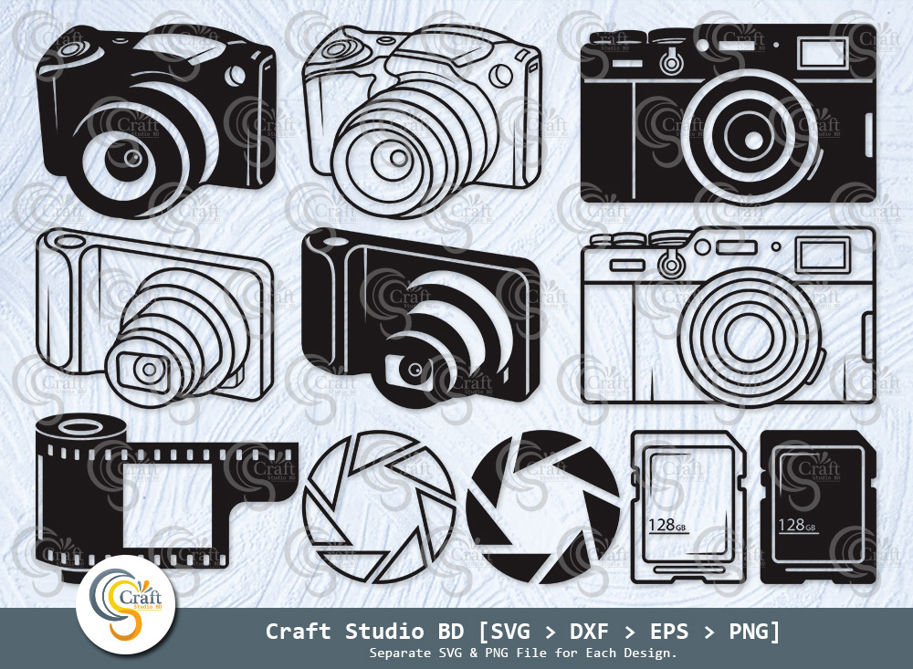 Camera Silhouette, Camera SVG Bundle