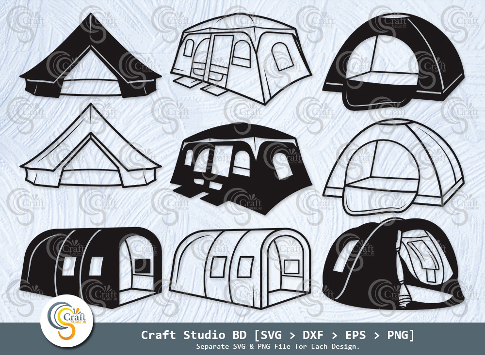 Camping Tent Silhouette, Camping Tent SVG