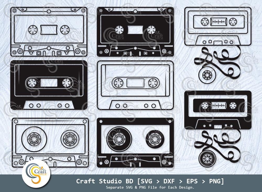 Cassette Tape Silhouette, Audio Cassette SVG