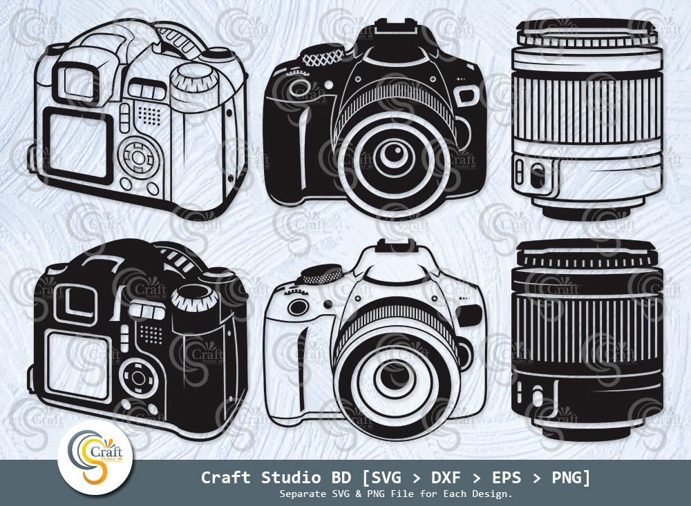 DSLR Camera Silhouette, DSLR Camera SVG