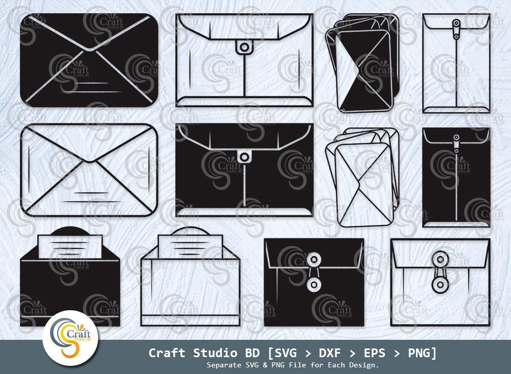 Envelope Silhouette, Envelope SVG, Mail Svg