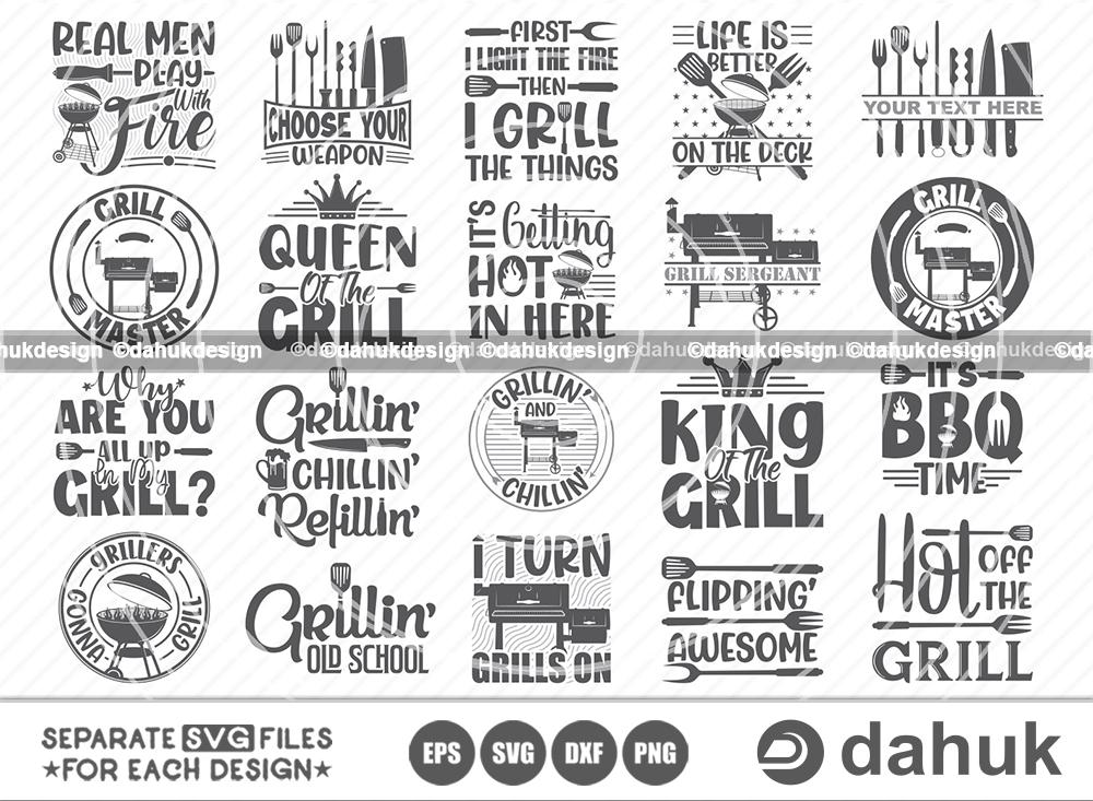 Grill BBQ SVG Bundle, Smoker SVG Bundle