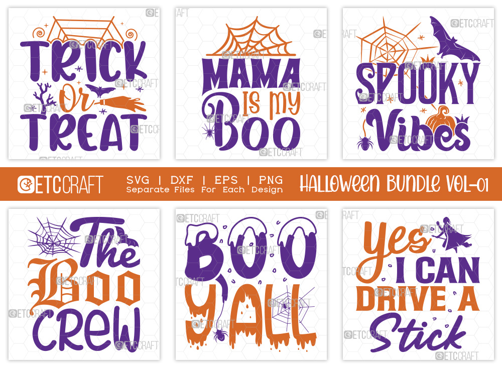 Halloween SVG Bundle Vol-01 | Trick Or Treat
