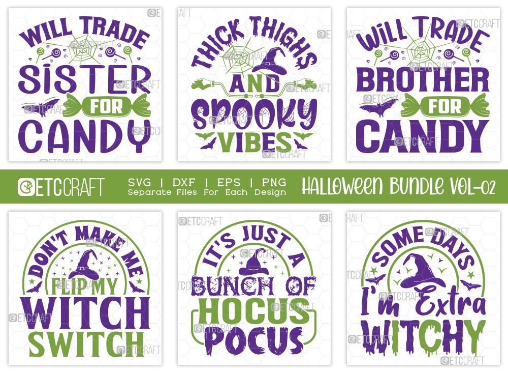 Halloween SVG Bundle Vol-02   Spooky Vibes