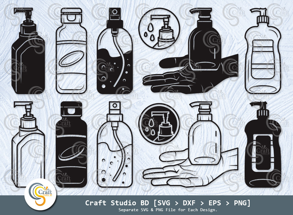 Hand Sanitizer Silhouette, Sanitizer Bottle SVG