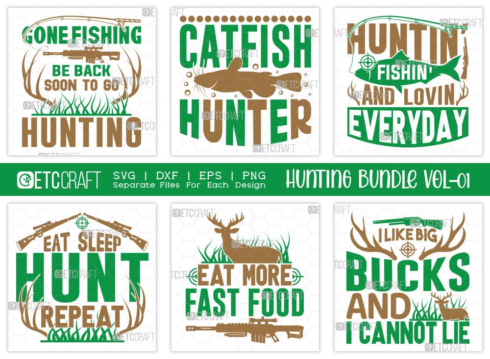 Hunting SVG Bundle Vol-01 | Hunting Life SVG
