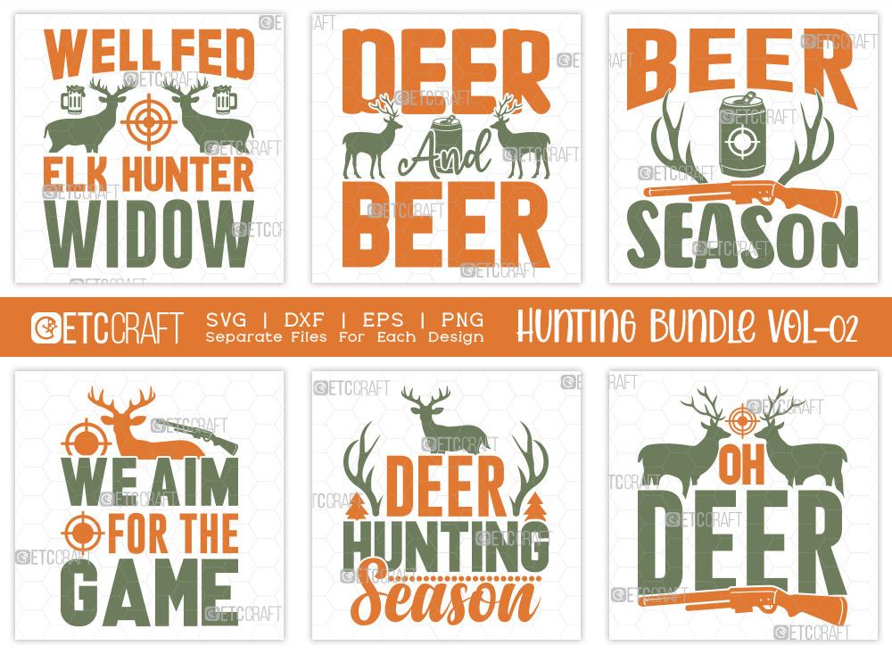 Hunting SVG Bundle Vol-02 | Hunting Life SVG