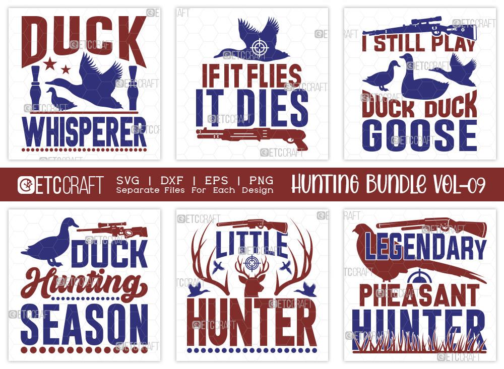Hunting SVG Bundle Vol-09 | Duck Whisperer