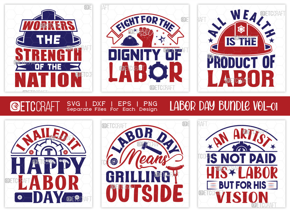 Labor Day SVG Bundle Vol-01 | Workers Day