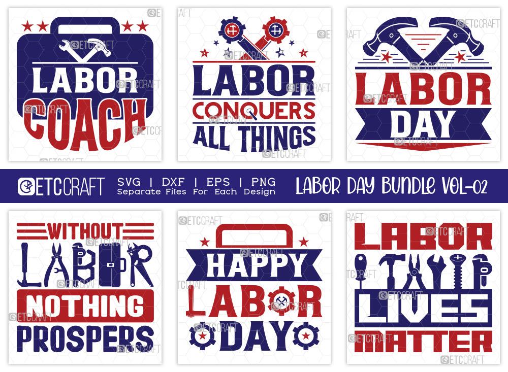 Labor Day SVG Bundle Vol-02 | USA Labor Day