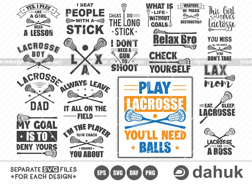 Lacrosse SVG Bundle, Eat Sleep Lacrosse