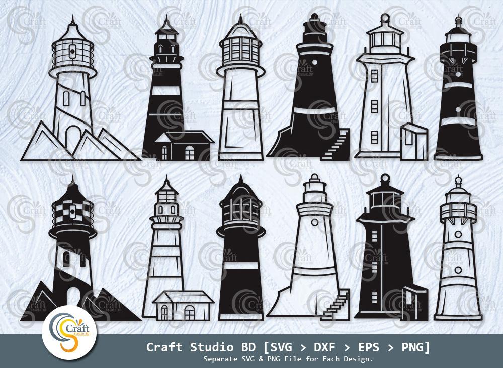 Lighthouse Silhouette, Lighthouse SVG Bundle