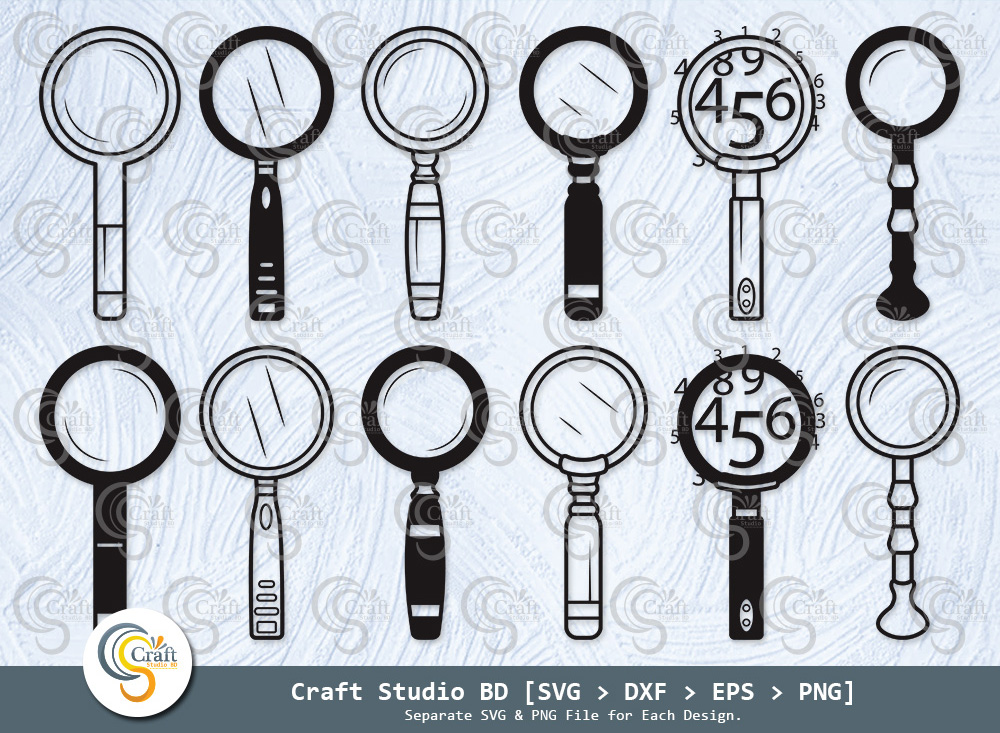 Magnifying Glass Silhouette, Detective Glass