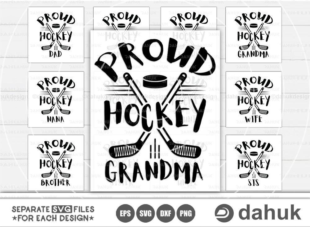 Proud Hockey Family Bundle, Hockey Family SVG