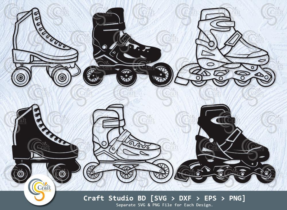 Roller Skates Silhouette, Roller Skates SVG