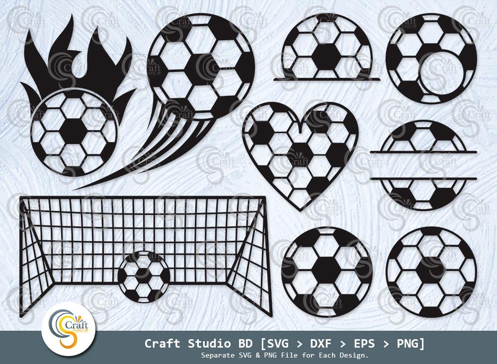 Soccer Ball Silhouette, Soccer Ball SVG Bundle
