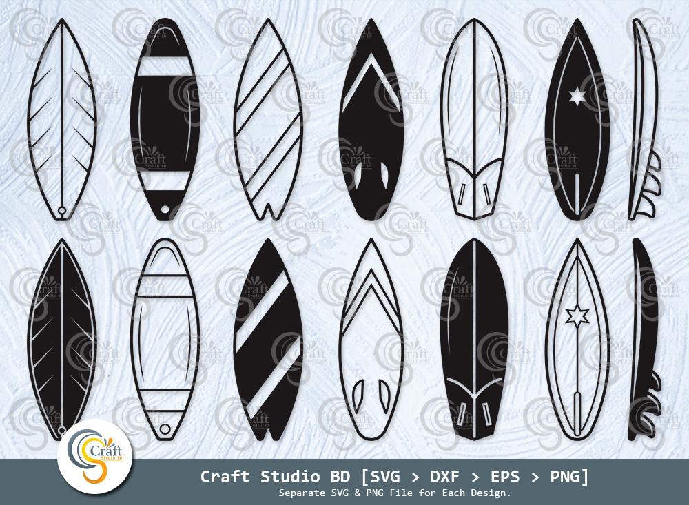 Surfboard Silhouette, Surfboard SVG Bundle