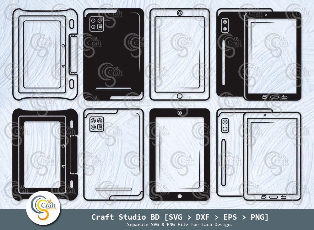 Tablet Silhouette, Tablet SVG, IPad SVG Bundle
