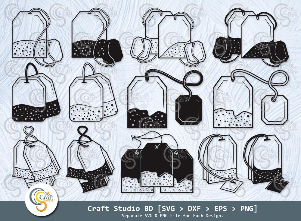 Tea Bag Silhouette, Tea Bag SVG Bundle