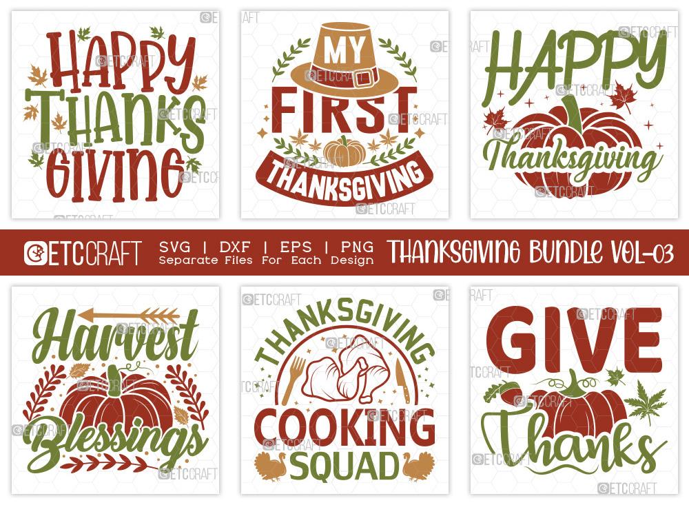 Thanksgiving SVG Bundle Vol-3 | Autumn SVG