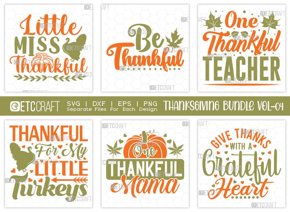 Thanksgiving SVG Bundle Vol-4 | Thankful SVG