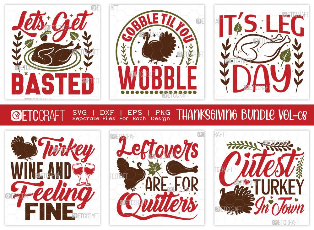 Thanksgiving SVG Bundle Vol-8 | Turkey Day Svg