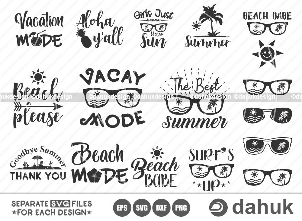 Tropical Vacation SVG Bundle, Vacay Mode SVG