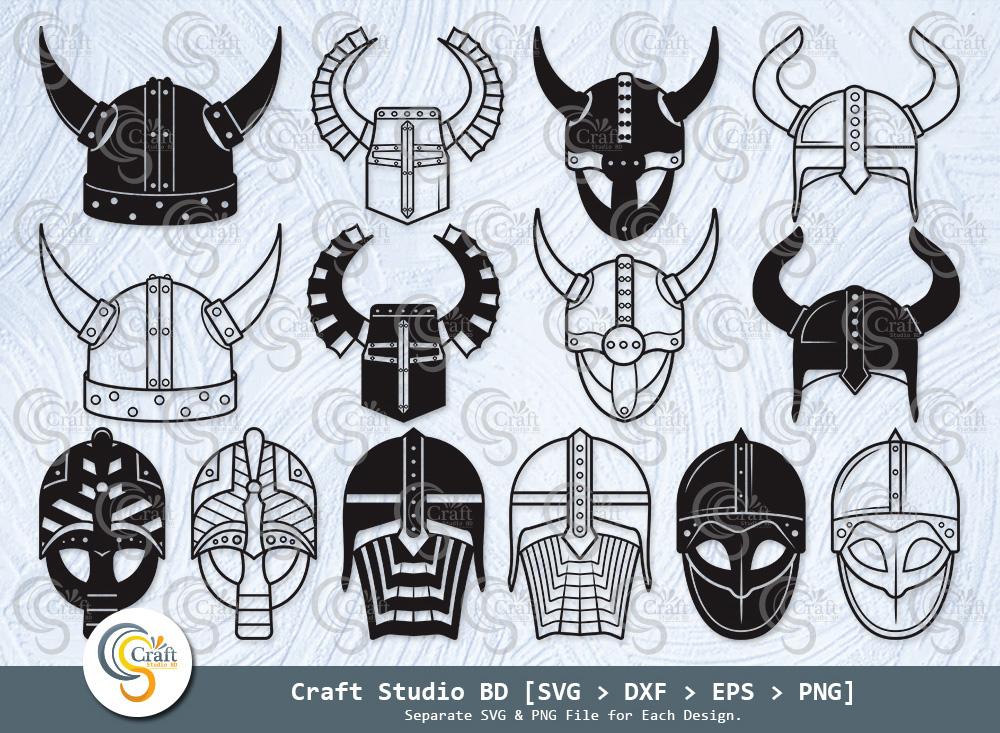 Viking Helmet Silhouette, Viking Helmet SVG
