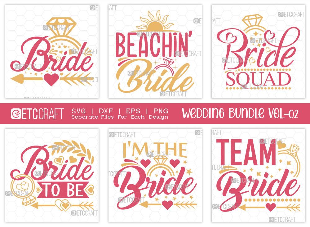 Wedding Bundle Vol-02   Marriage SVG