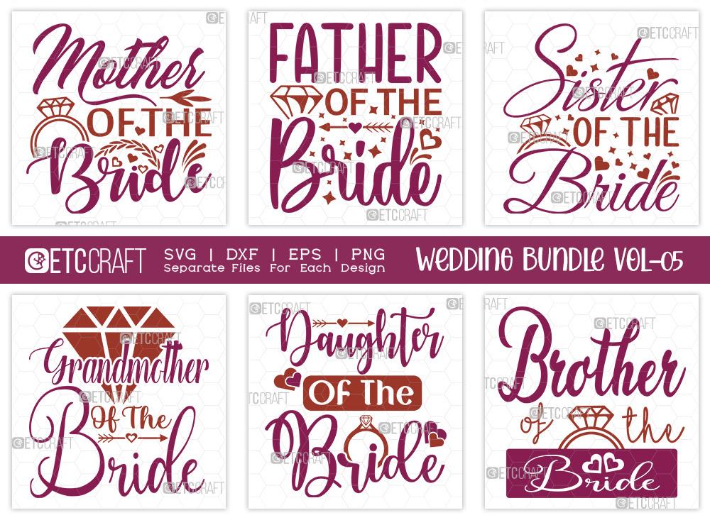 Wedding Bundle Vol-05 | Bride SVG Bundle