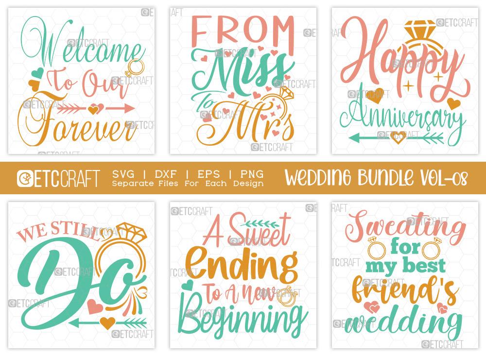 Wedding Bundle Vol-08 | Happy Anniversary SVG