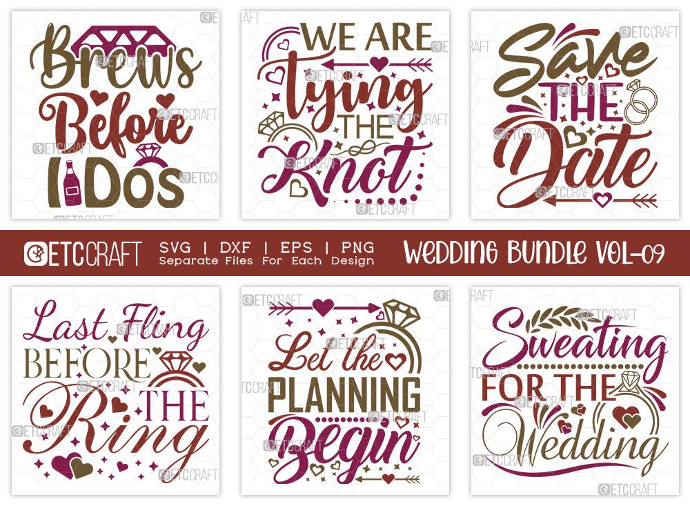 Wedding Bundle Vol-09   Save The Date SVG