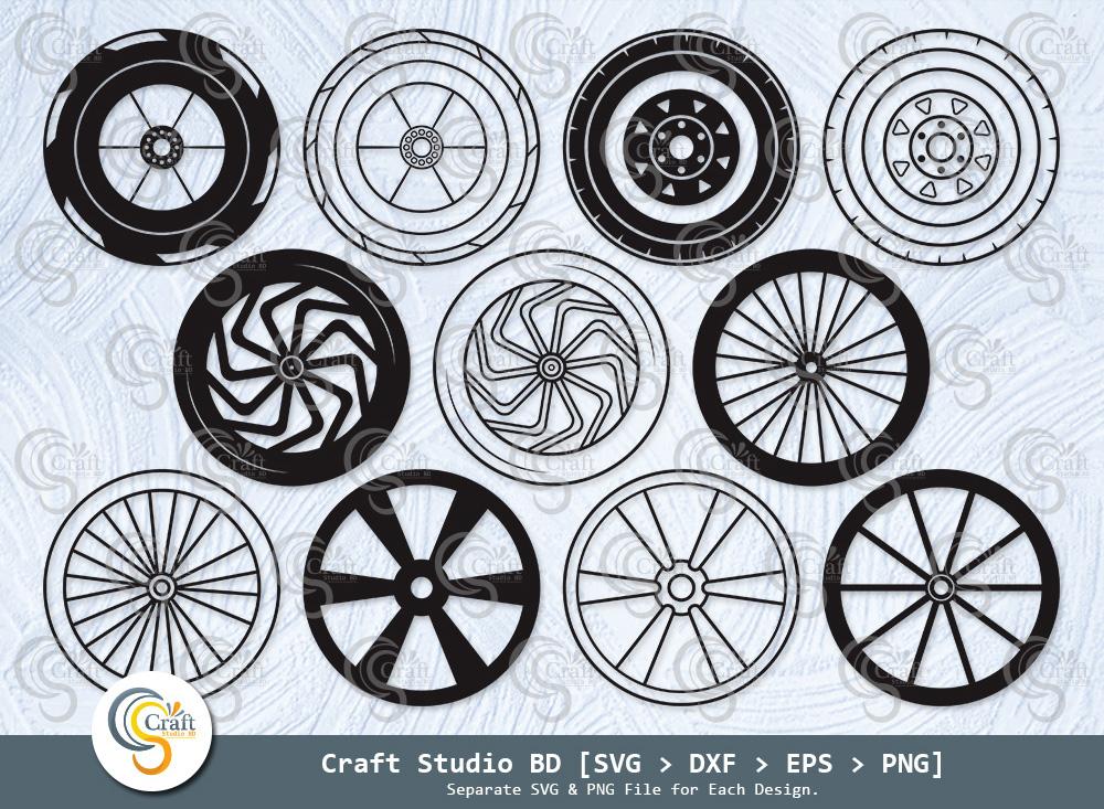 Wheel Silhouette, Wheel Svg, Car Wheel SVG