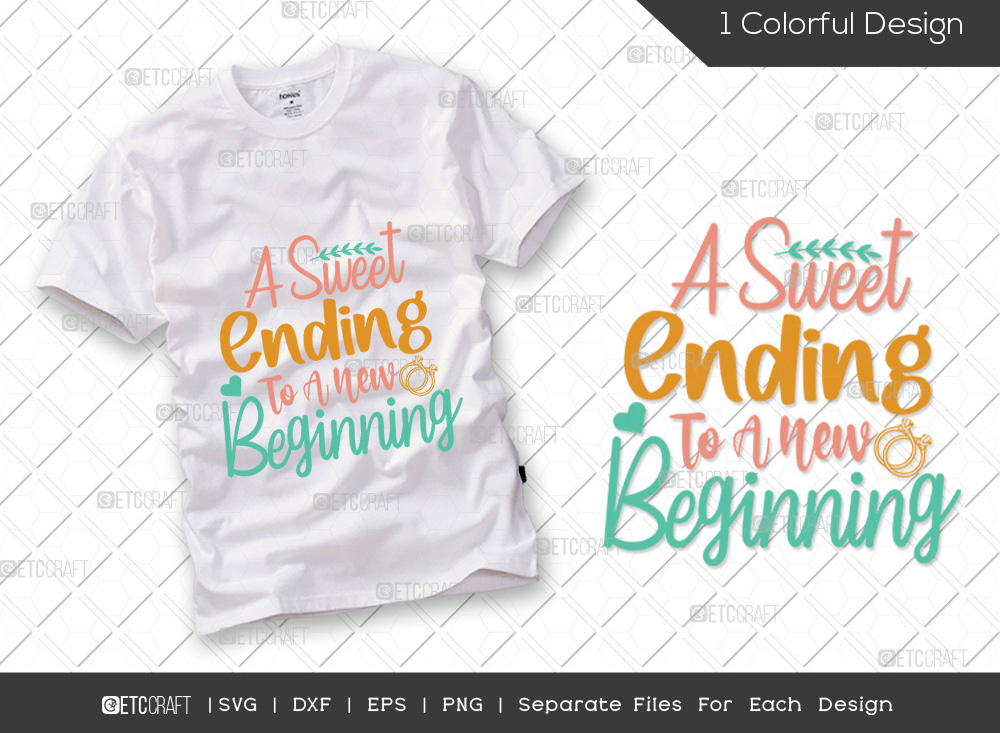A Sweet Ending To SVG Cut File   Wedding SVG