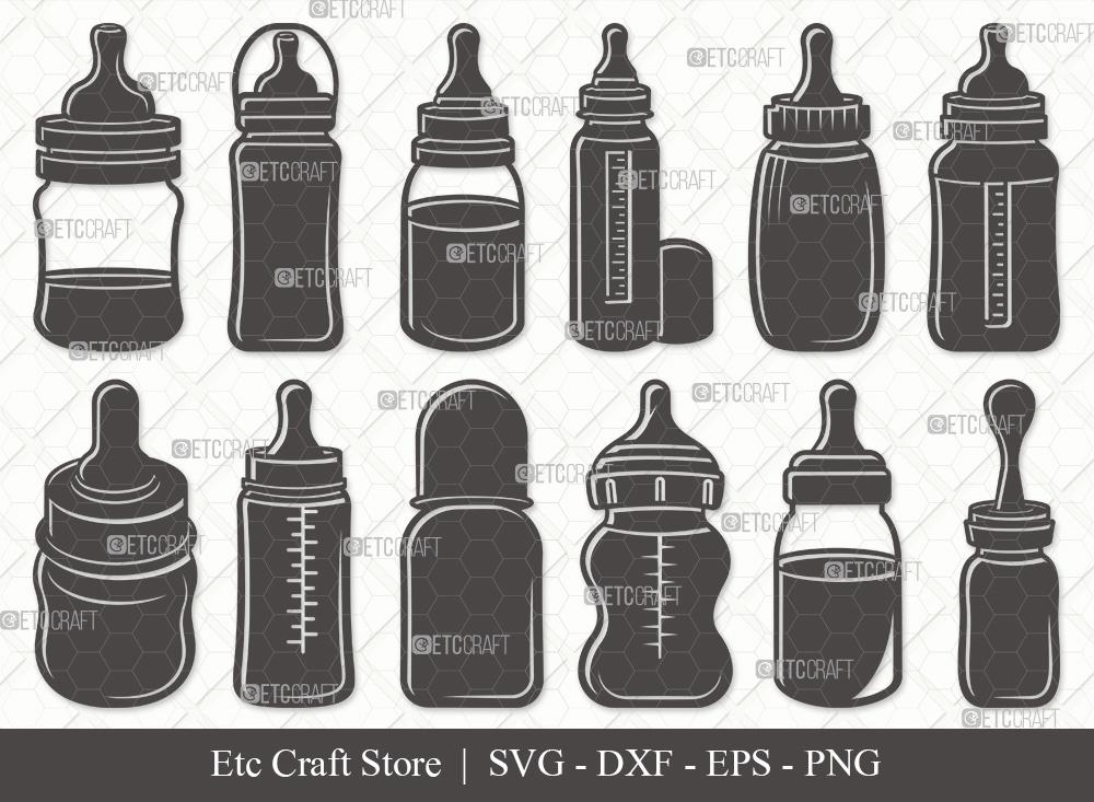 Baby Bottle Silhouette SVG | Milk Bottle SVG