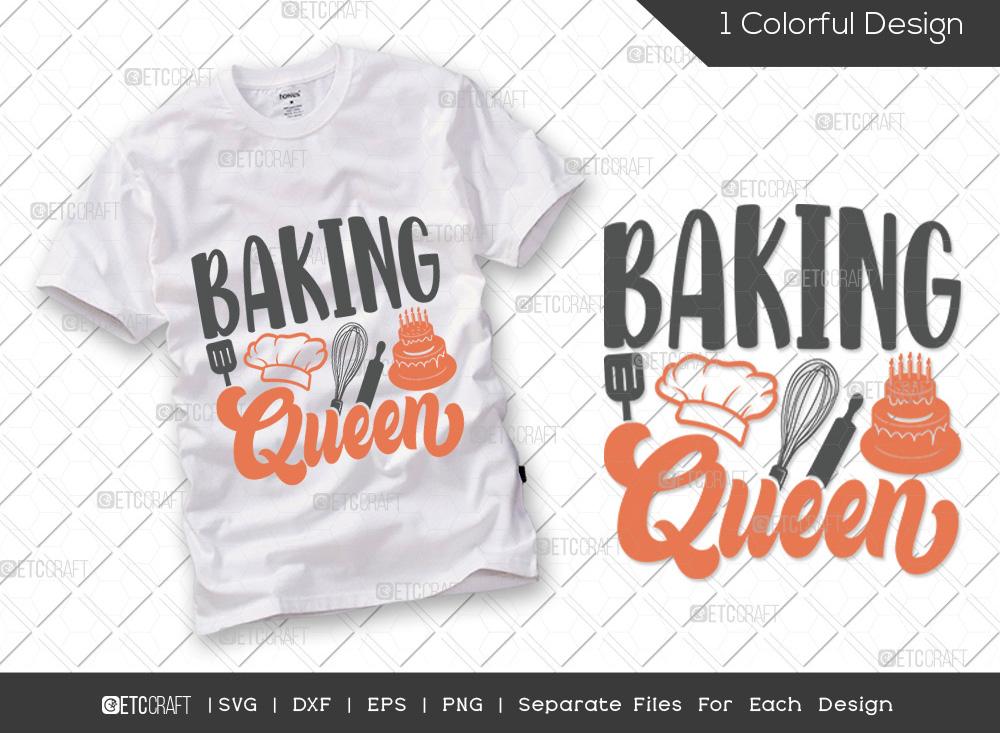 Baking Queen SVG Cut File   Kitchen SVG