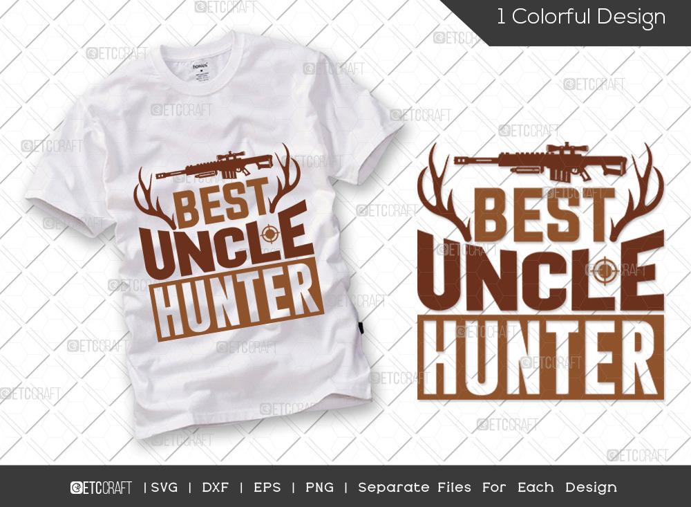 Best Uncle Hunter SVG Cut File | Hunting SVG