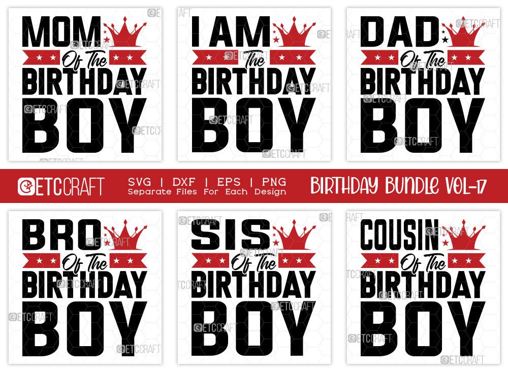 Birthday Bundle Vol-17 | Birthday Boy SVG