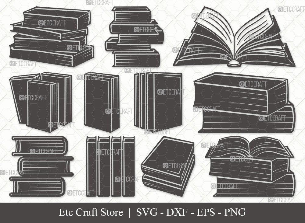 Book Silhouette SVG Cut File | Book SVG Bundle