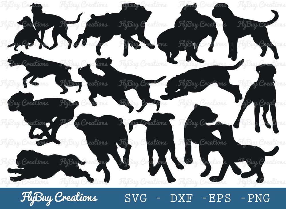Boxer Dog SVG Bundle   Dog SVG   Animal SVG